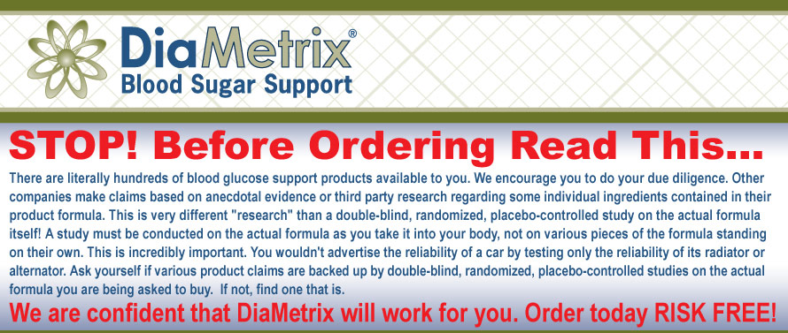 DiaMetrix Blood Sugar Support Landmark Clinical Study Results
